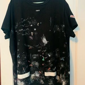 OFF WHITE GALAXY T SIZE M (OVERSIZED)